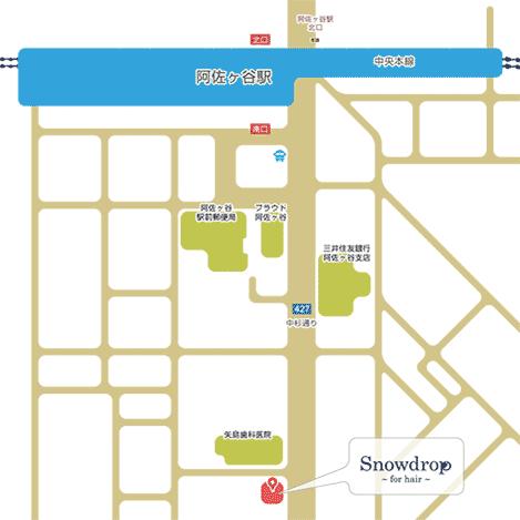 スノードロップ 阿佐ヶ谷店 地図
