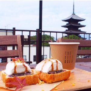東寺の五重塔が見えるカフェ、ザネクストドアでモーニング